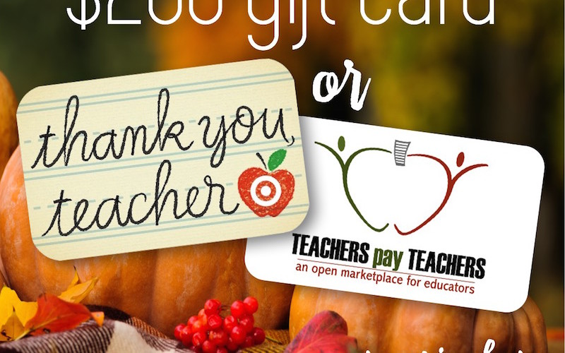 Thank you, Teacher Giveaway!
